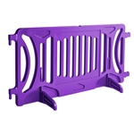 Plastic Crowd Control Fillable Barricade OTW Purple
