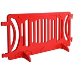 Plastic Crowd Control Fillable Barricade OTW Red