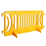 Plastic Crowd Control Fillable Barricade OTW Yellow