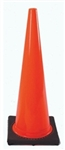 "Traffic Cone 28"" in. Red/Orange with Black Base"