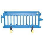 Avalon Crowd Control Plastic Barricade Blue No Sheeting