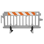 Avalon Crowd Control Plastic Barricade - Add engineer grade striped sheeting on two sides