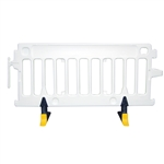 Avalon Crowd Control Plastic Barricade White No Sheeting