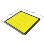 "Pedestrian Trench Cover  44.3""L x 44.3""W with smooth rubber edges"