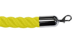Twisted Plastic Rope Yellow with Metal Ends