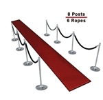 Queueing Stantions (8-Pack with 6 Ropes)