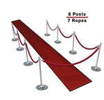 Queueing Stantions (8-Pack with 7 Ropes)