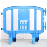 Minit - 4.1' ft. Plastic Crowd Control Barricade Blue