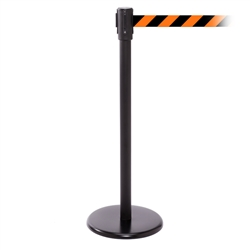 QueuePro 200, Black, Barrier with 11' Orange/Black Diagonal Belt