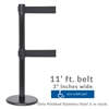 "Premium Double Belt (ADA compliant stanchion) - 3"" wide 11' ft long belt barrier PRTWXB-BK110CV"