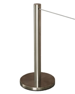 """Q-Cord"" Museum Barrier with Retractable 7' Cord, Stainless Steel, 20"" H"