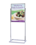 Double Frame Poster Stand For Covid-19 Crowd Control PS2228PC-D-TB