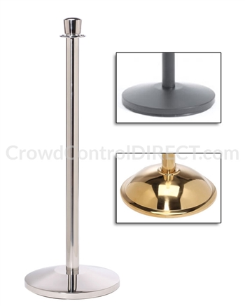 Economy Rope Stanchion Crown Top Covid