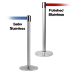 Stainless Steel Barrier with 7.5ft Retractable Belt