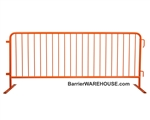 Crowd Control Steel Barricade - Orange