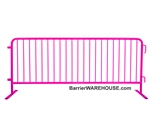 Crowd Control Steel Barricade - Pink