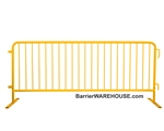 Crowd Control Steel Barricade - Yellow