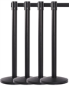 Retractable Belt Stanchions, All Black 8' ft. Belt - QUES310BK