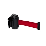 QueueWay Wall Mounted Retractable Belt, RED 7.5' ft.