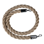 """Q-Boss"" Crowd Control Stanchion Rope 1.5"" Diam. ""Poly-Hemp"" (#901)"