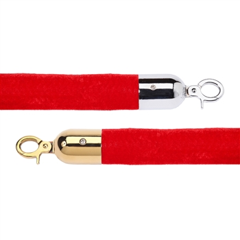 "Economy 1.5"" Velvet Rope Red - 8 Feet"