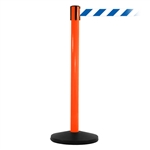 SafetyMaster 450, Orange, Barrier with 11' Blue/White Diagonal Belt