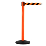 SafetyMaster 450, Orange, Barrier with 11' Orange/Black Diagonal Belt