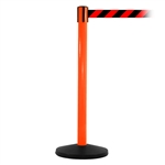 SafetyMaster 450, Orange, Barrier with 11' Red/Black Diagonal Belt