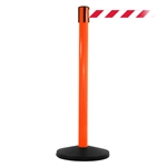 SafetyMaster 450, Orange, Barrier with 11' Red/White Diagonal Belt