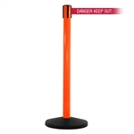 SafetyMaster 450, Orange, Barrier with 11' DANGER-KEEP OUT - RED Belt