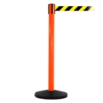 SafetyMaster 450, Orange, Barrier with 11' Yellow/Black Diagonal Belt