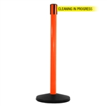 SafetyMaster 450, Orange, Barrier with 11' CLEANING IN PROGRESS Belt