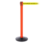 SafetyPro 250, Orange, Barrier with 11' AUTHORIZED ACCESS ONLY Belt