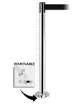 Tensabarrier 889R Removable Stanchion with Floor Socket