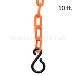 "Chainboss ORANGE Plastic Safety 2"" Chain UV Resistant - 10ft bag with S-hooks (Multi-Pack)"