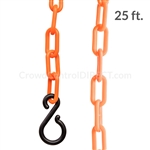 "Chainboss ORANGE Plastic Safety 2"" Chain UV Resistant - 25ft bag with S-hooks (Multi-Pack)"