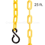 "Chainboss YELLOW Plastic Safety 2"" Chain UV Resistant - 25ft bag with S-hooks (Multi-Pack)"