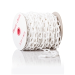 "ChainBoss High tensile strength 2"" white plastic chain with UV protection (125' reel)"