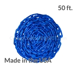 "Chainboss BLUE Plastic Safety 2"" Chain UV Resistant - 50ft box"