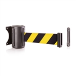 US Weight Black wall mount & 8' safety yellow/black chevron belt