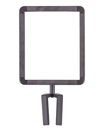 US Weight Plastic Stanchion Sign Holder with Plexiglass Covers for ChainBoss and Sentry Stanchions