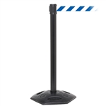 WeatherMaster 250, Black, Barrier with 11' Blue/White Diagonal Belt