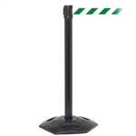 WeatherMaster 250, Black, Barrier with 11' Green/White Diagonal Belt