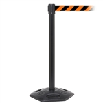 WeatherMaster 250, Black, Barrier with 11' Orange/Black Diagonal Belt