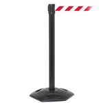 WeatherMaster 250, Black, Barrier with 11' Red/White Diagonal Belt
