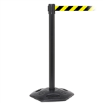 WeatherMaster 250, Black, Barrier with 11' Yellow/Black Diagonal Belt