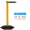 Rubber Base Outdoor Belt Barrier with 16' ft. belt WMR300B-160CV