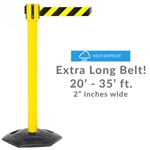 WeatherMaster 335 - Long 20'-35' ft. Belt Barrier, Rubber Base