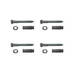 "Speed Bump Hardware Kit, includes four pieces of 4 1/2"" lag