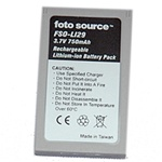 Foto Source FL201 (BLI29) Minolta NP200 lithium battery, 3.7v, 750mah, 2 year warranty